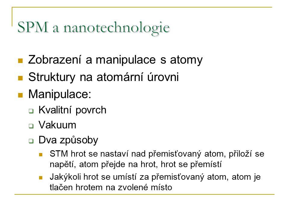 SPM a nanotechnologie Zobrazení a manipulace s atomy