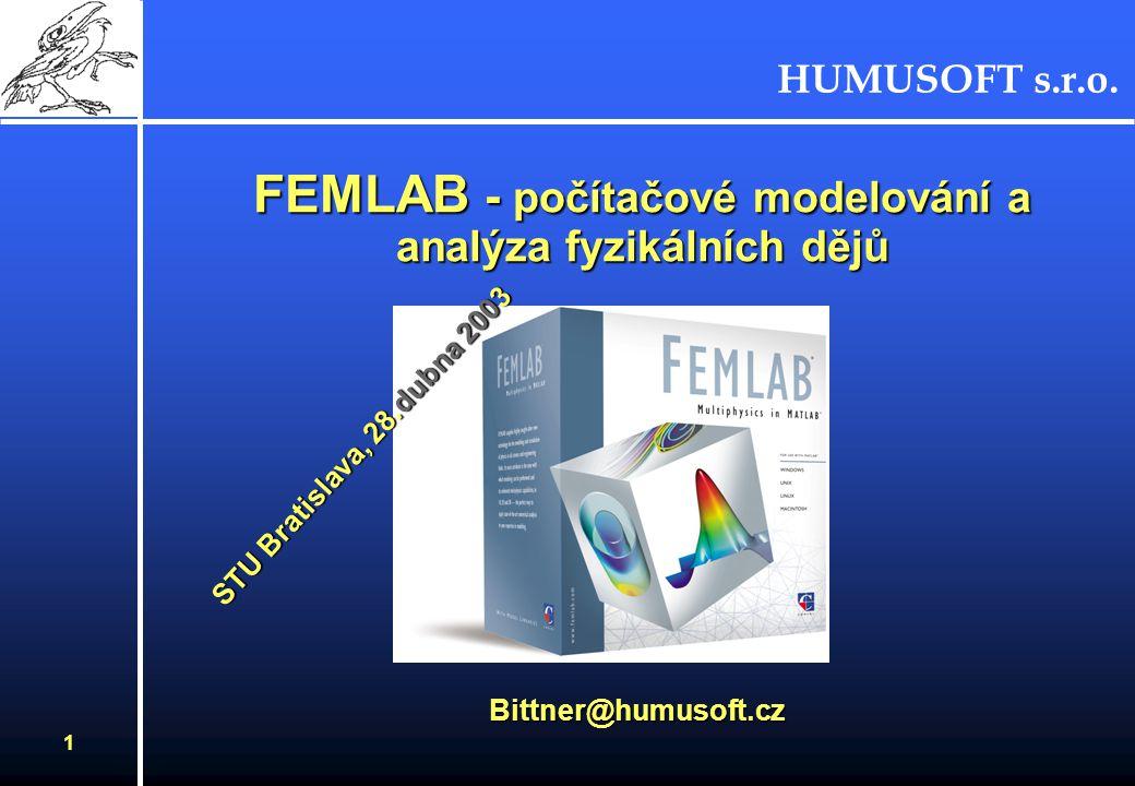 FEMLAB - počítačové modelování a analýza fyzikálních dějů