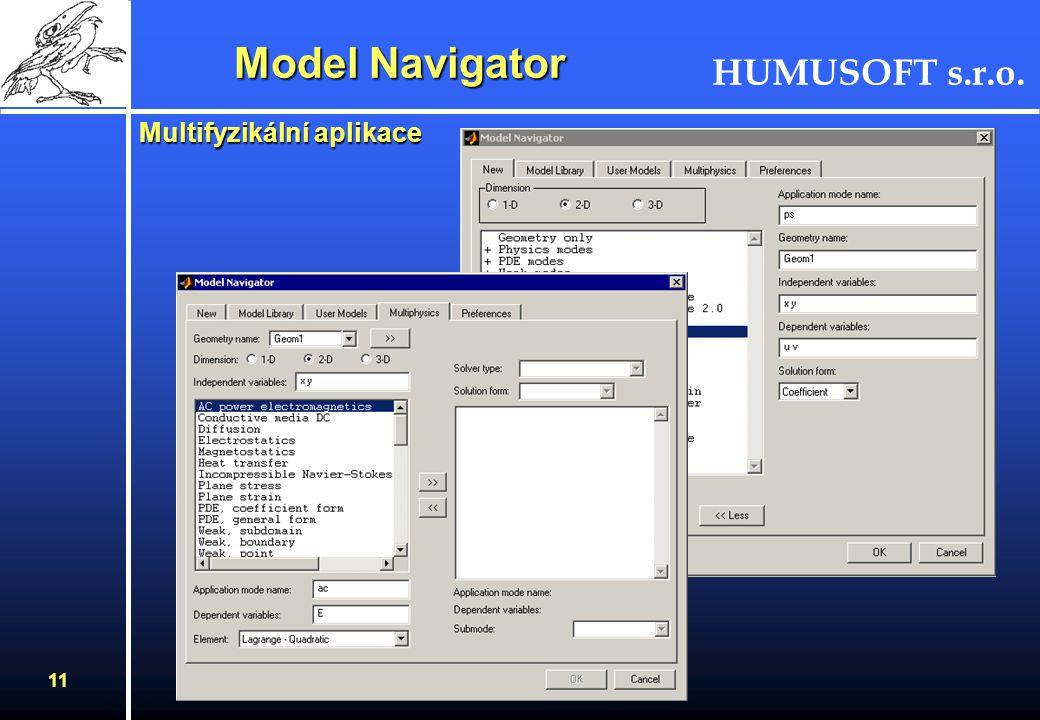 Model Navigator Multifyzikální aplikace
