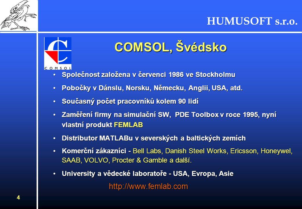 COMSOL, Švédsko http://www.femlab.com
