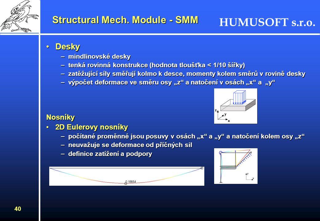 Structural Mech. Module - SMM