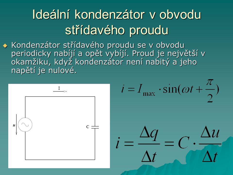 Ideální kondenzátor v obvodu střídavého proudu