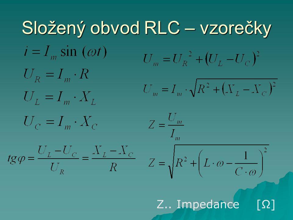 Složený obvod RLC – vzorečky