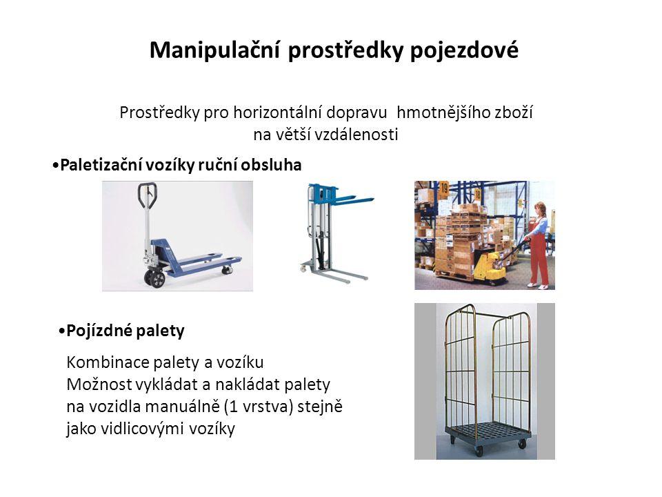 Manipulační prostředky pojezdové Paletizační vozíky ruční obsluha