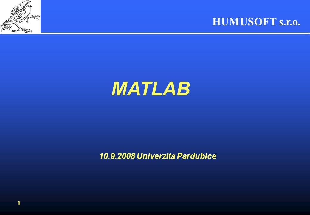MATLAB 10.9.2008 Univerzita Pardubice