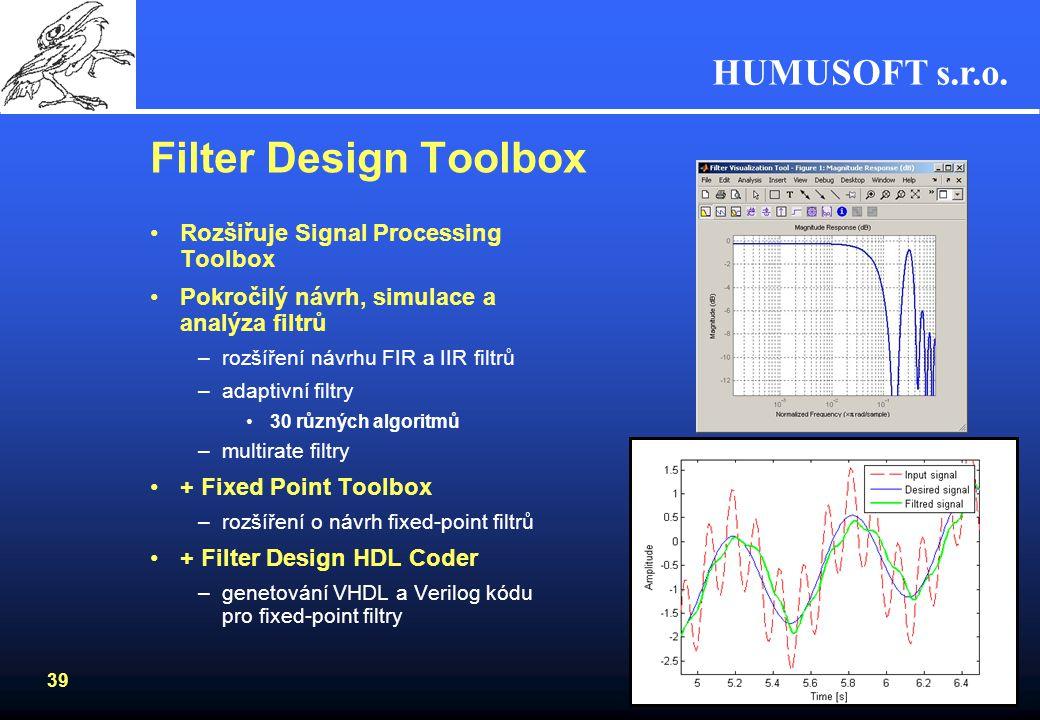 Filter Design Toolbox Rozšiřuje Signal Processing Toolbox