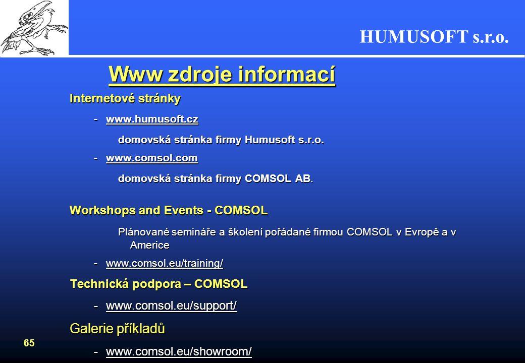 Www zdroje informací Galerie příkladů Internetové stránky