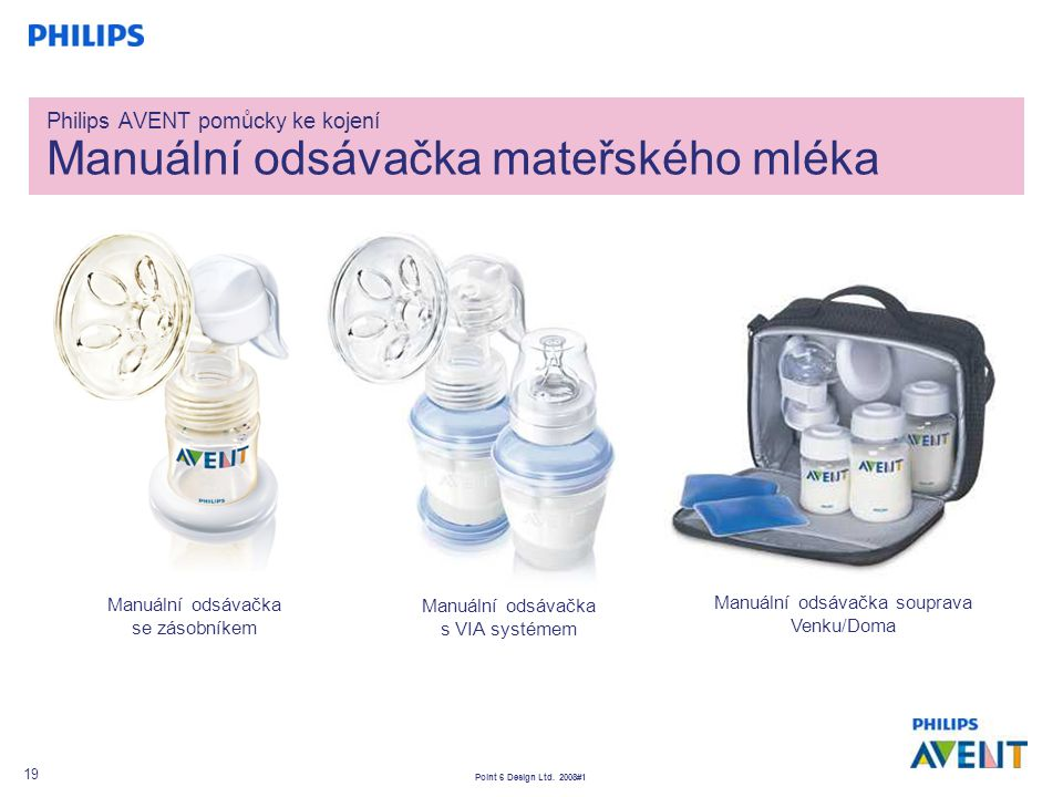 Philips AVENT pomůcky ke kojení Manuální odsávačka mateřského mléka