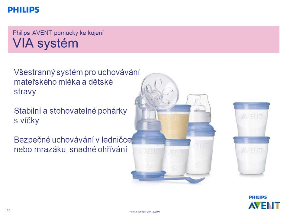 Philips AVENT pomůcky ke kojení VIA systém