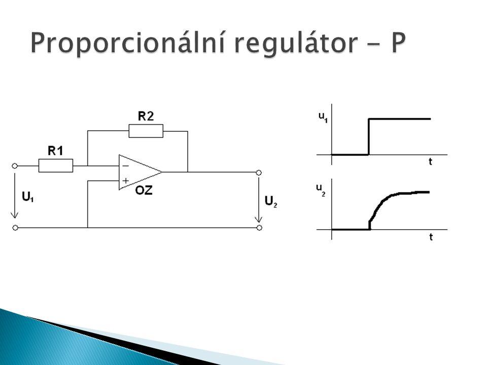 Proporcionální regulátor - P