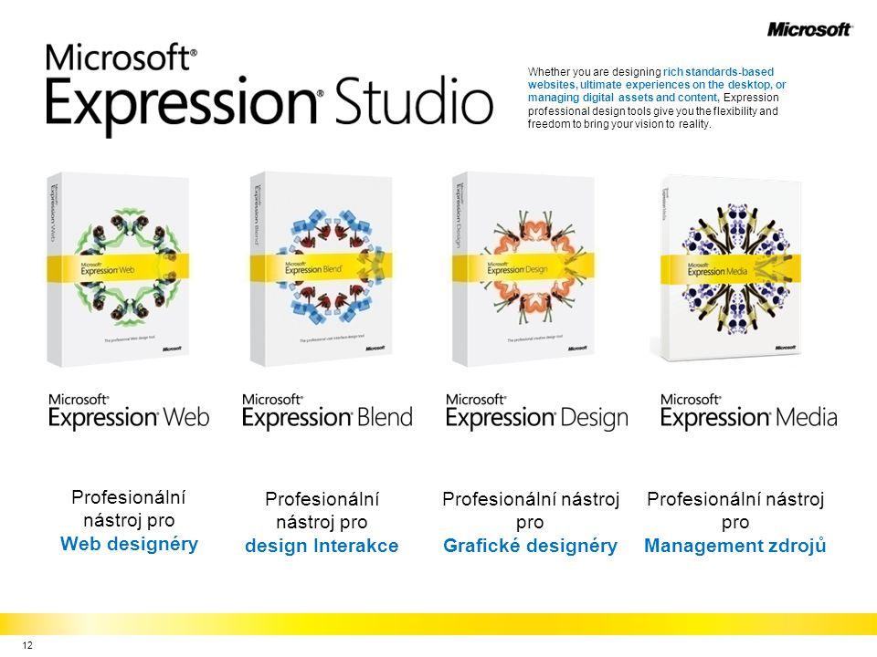 Profesionální nástroj pro Web designéry