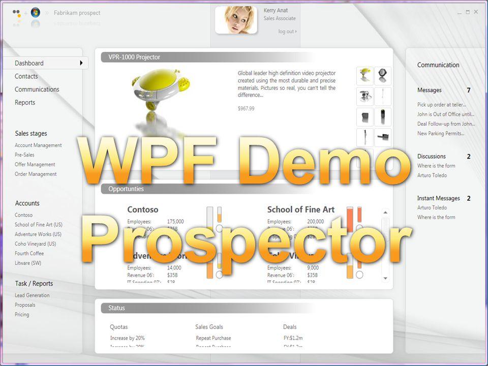 WPF Demo Prospector WPF Demo - prospector