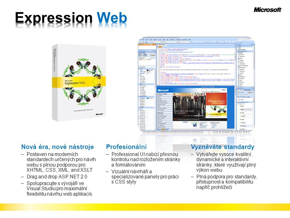 Expression Web Nová éra, nové nástroje Profesionální