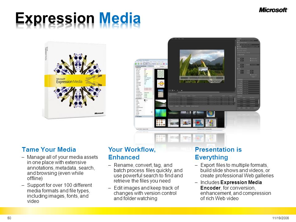 Expression Media Tame Your Media Your Workflow, Enhanced