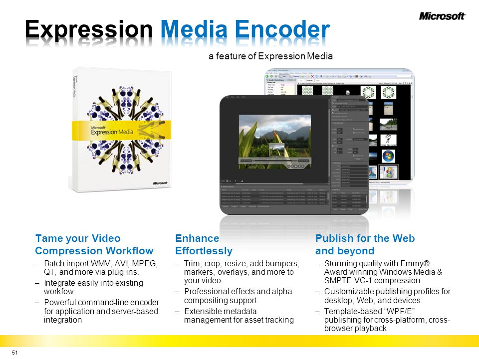 Expression Media Encoder