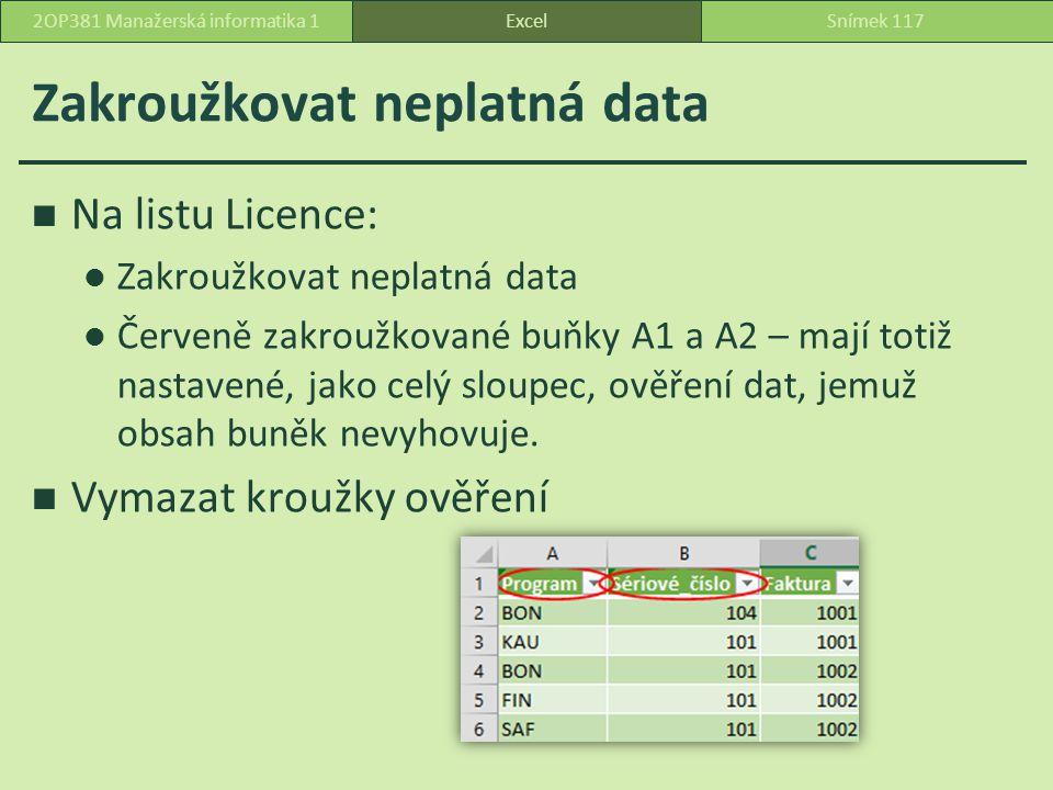 Zakroužkovat neplatná data