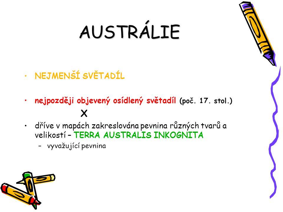 AUSTRÁLIE X NEJMENŠÍ SVĚTADÍL
