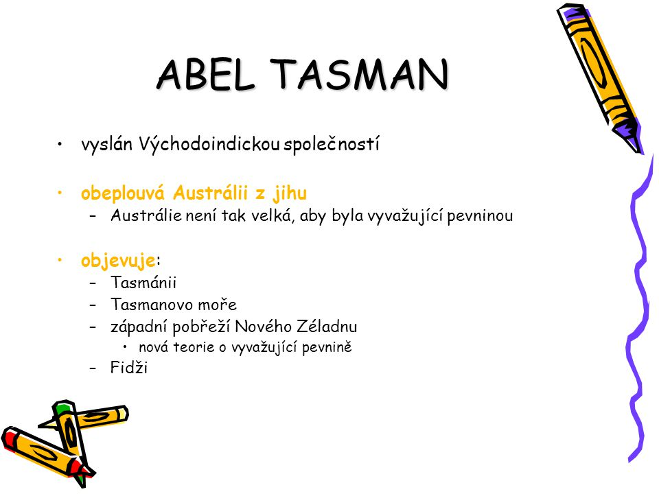 ABEL TASMAN vyslán Východoindickou společností