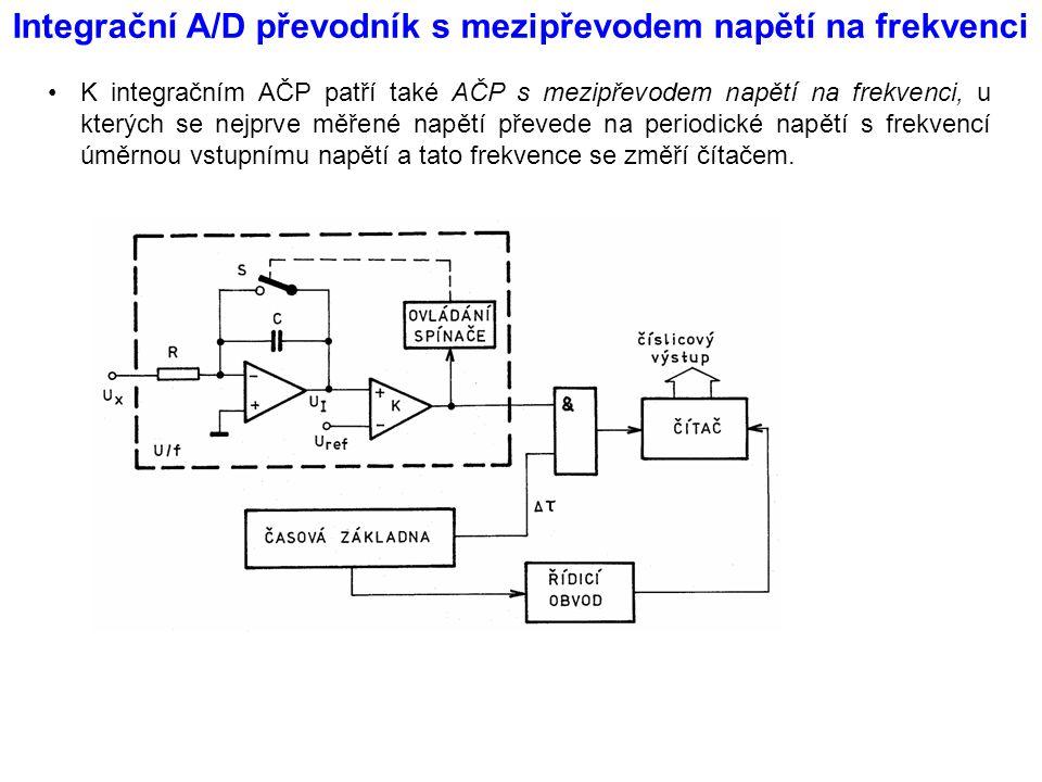 Integrační A/D převodník s mezipřevodem napětí na frekvenci