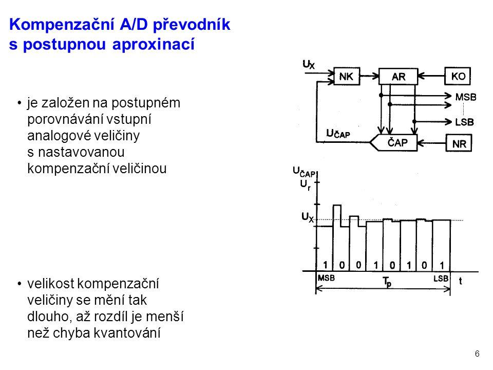 Kompenzační A/D převodník s postupnou aproxinací