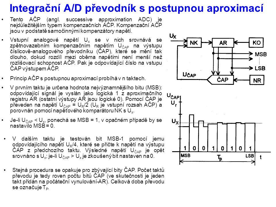 Integrační A/D převodník s postupnou aproximací