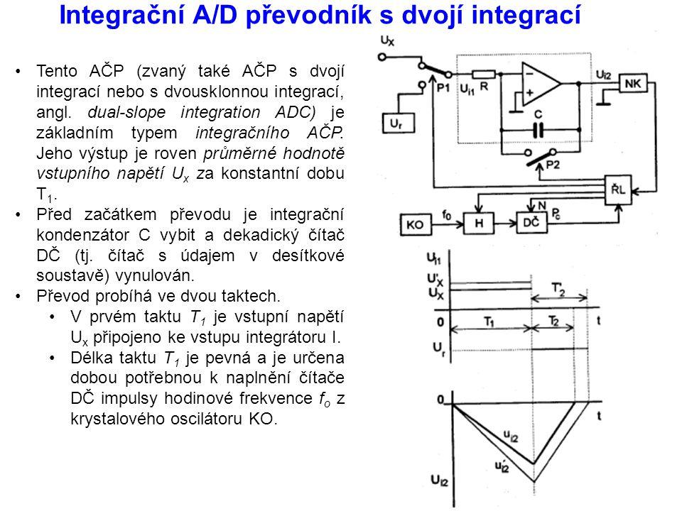 Integrační A/D převodník s dvojí integrací