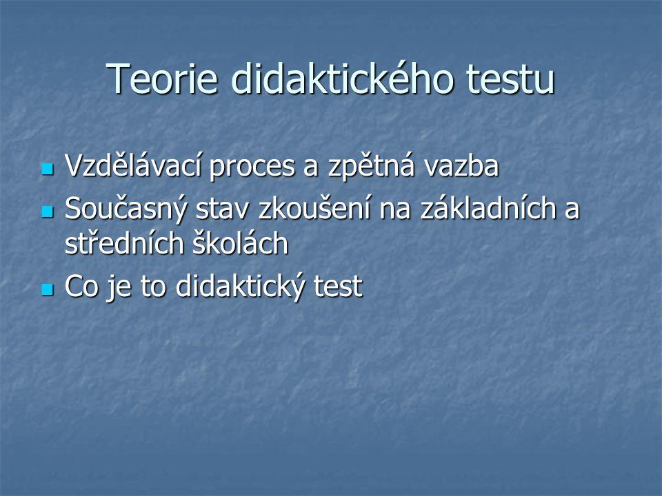 Teorie didaktického testu