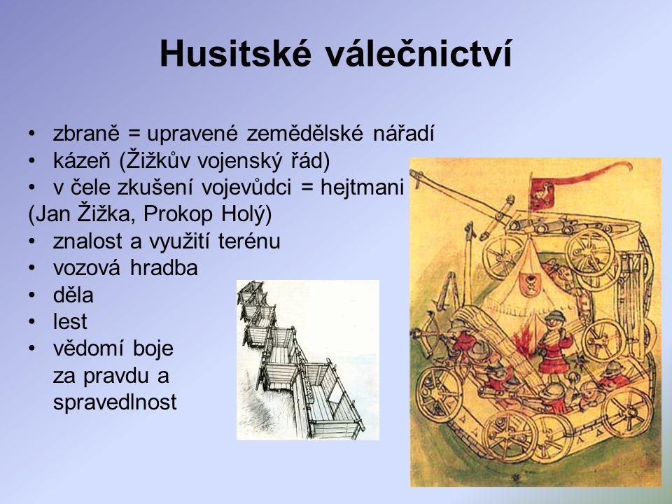 Husitské válečnictví zbraně = upravené zemědělské nářadí