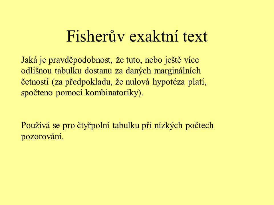 Fisherův exaktní text