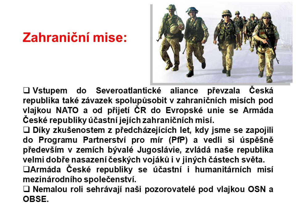 Zahraniční mise: