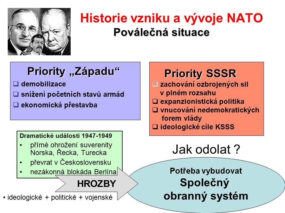 Historie vzniku a vývoje NATO