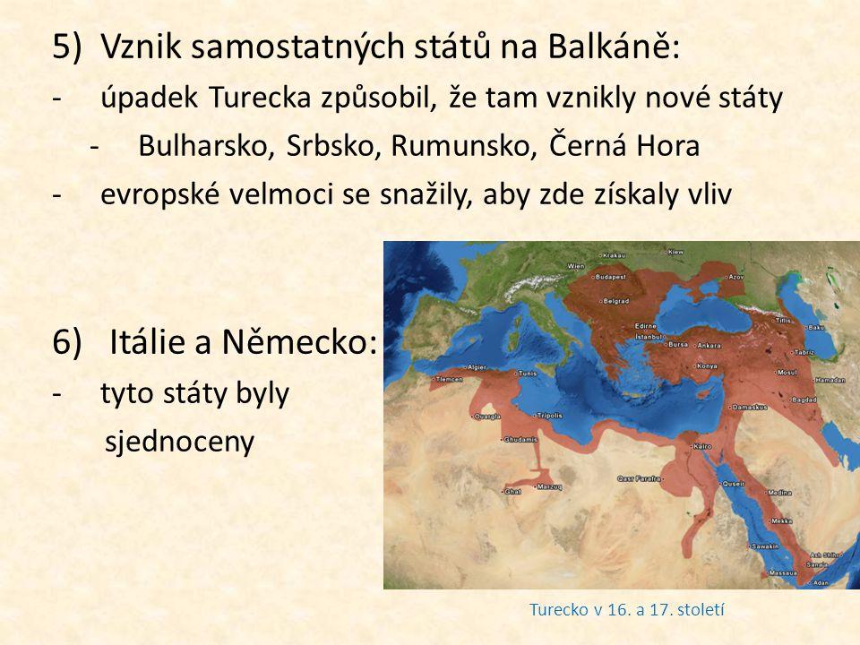 Vznik samostatných států na Balkáně: