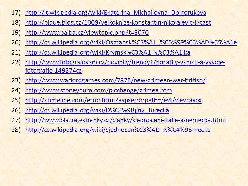 http://it.wikipedia.org/wiki/Ekaterina_Michajlovna_Dolgorukova http://pique.blog.cz/1009/velkoknize-konstantin-nikolajevic-ii-cast.