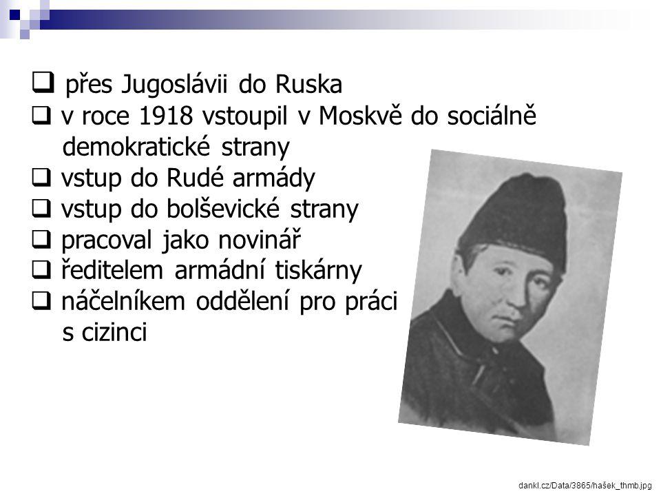 přes Jugoslávii do Ruska