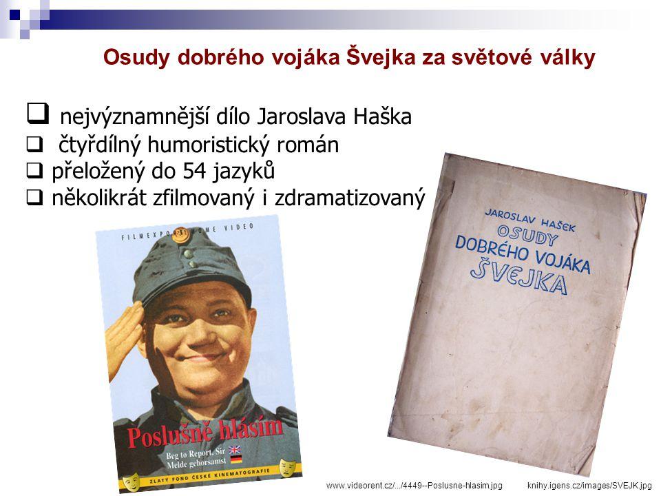 nejvýznamnější dílo Jaroslava Haška
