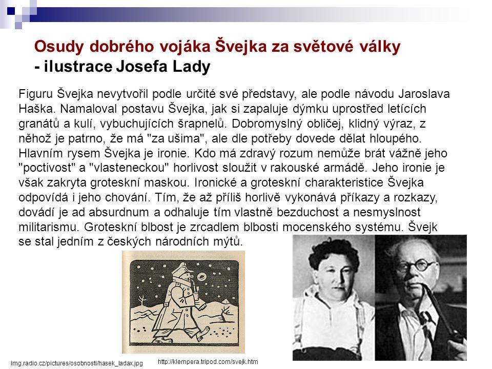 Osudy dobrého vojáka Švejka za světové války - ilustrace Josefa Lady