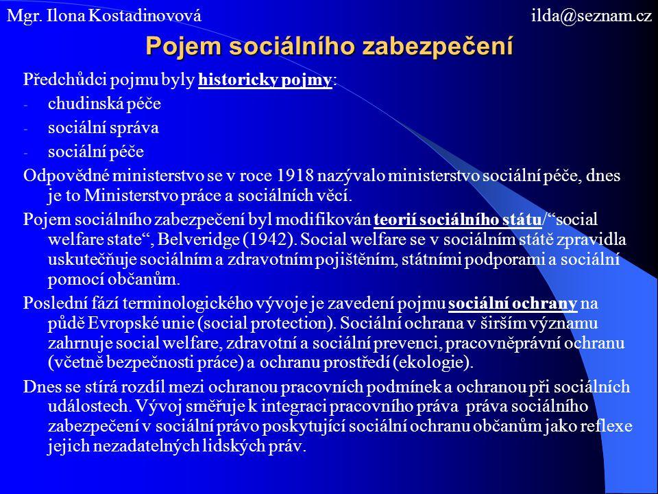 Pojem sociálního zabezpečení