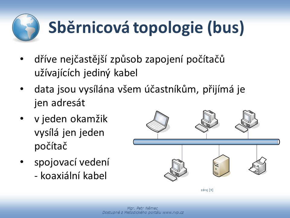 Sběrnicová topologie (bus)