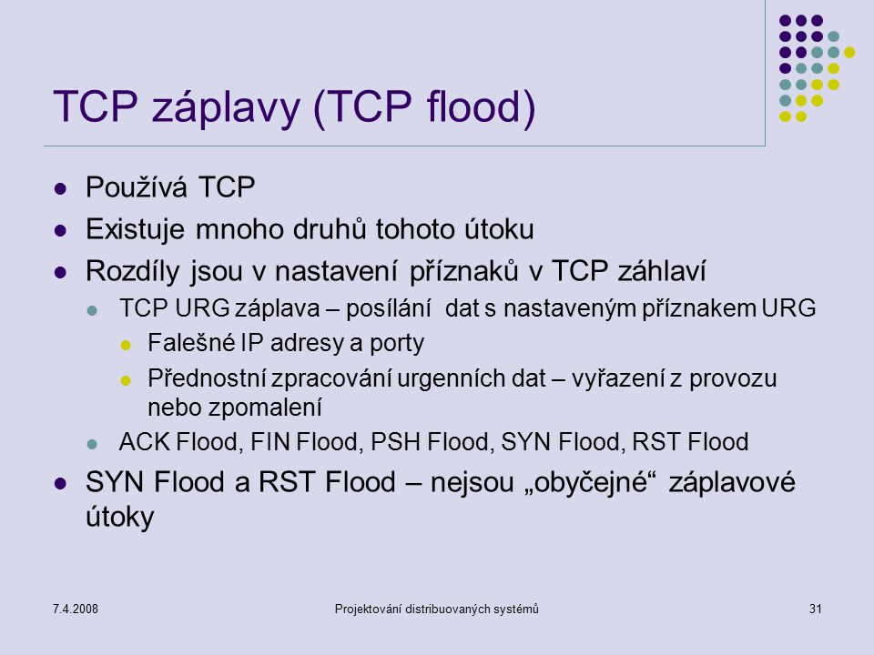 TCP záplavy (TCP flood)