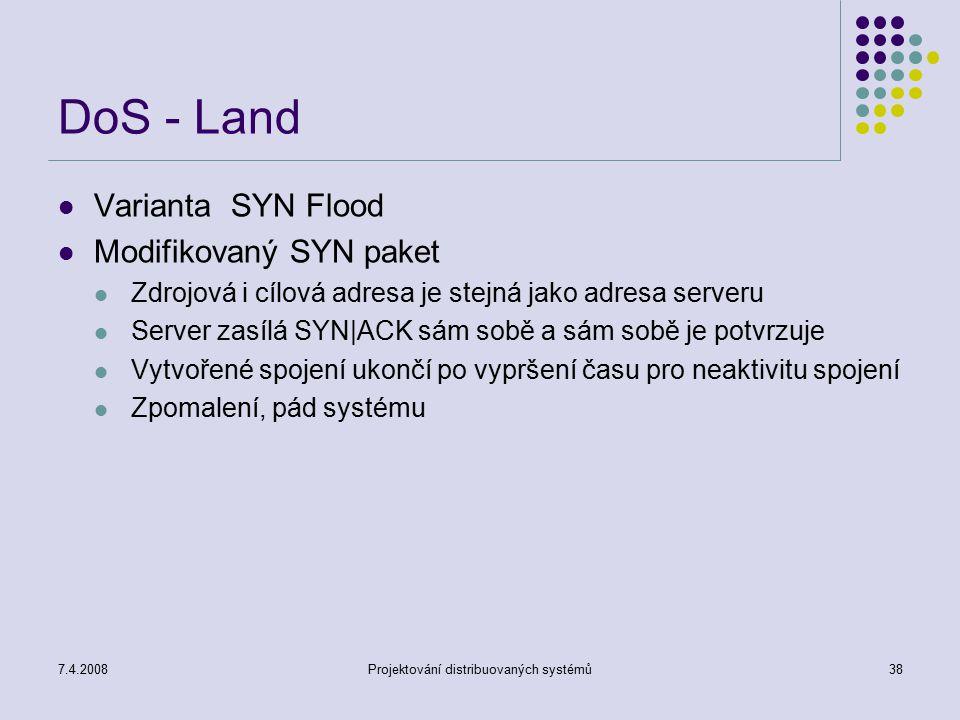 Projektování distribuovaných systémů