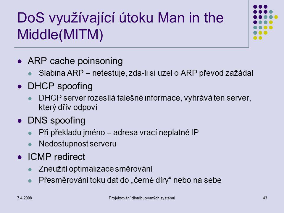 DoS využívající útoku Man in the Middle(MITM)