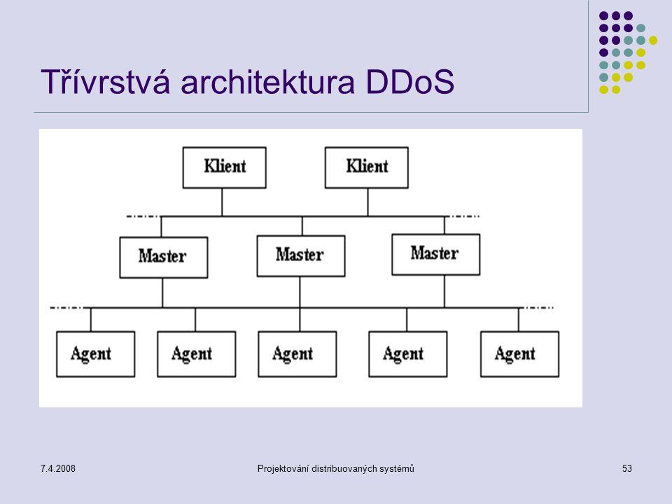 Třívrstvá architektura DDoS