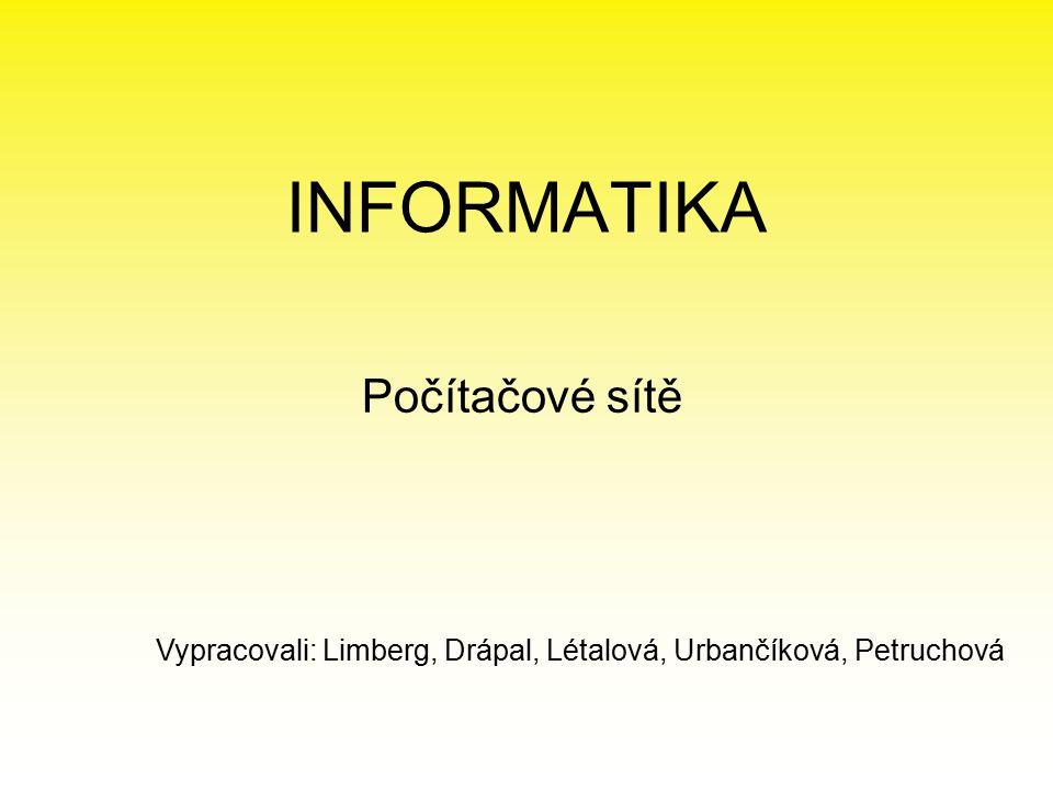INFORMATIKA Počítačové sítě
