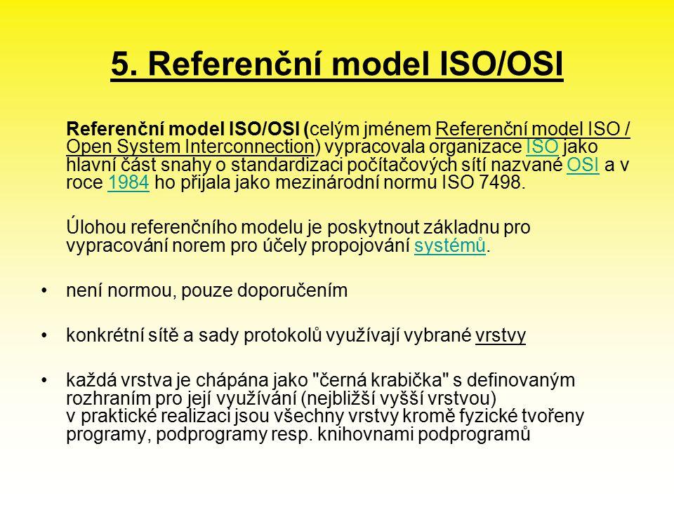 5. Referenční model ISO/OSI