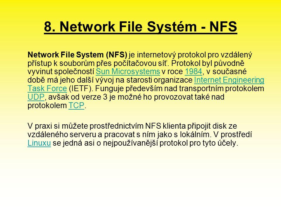 8. Network File Systém - NFS
