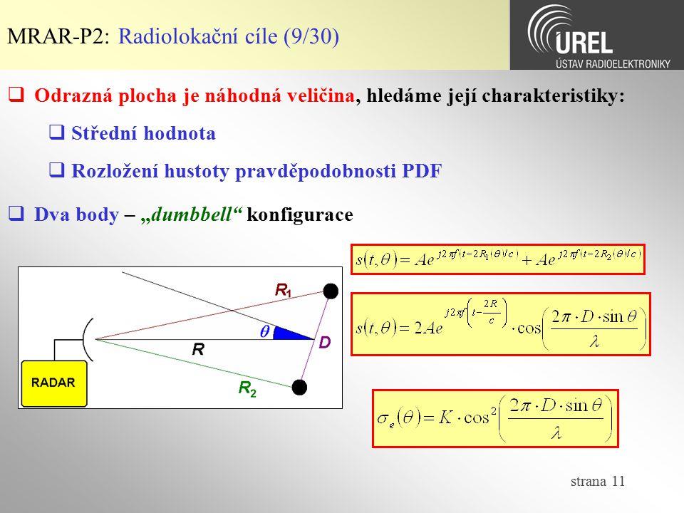 MRAR-P2: Radiolokační cíle (9/30)