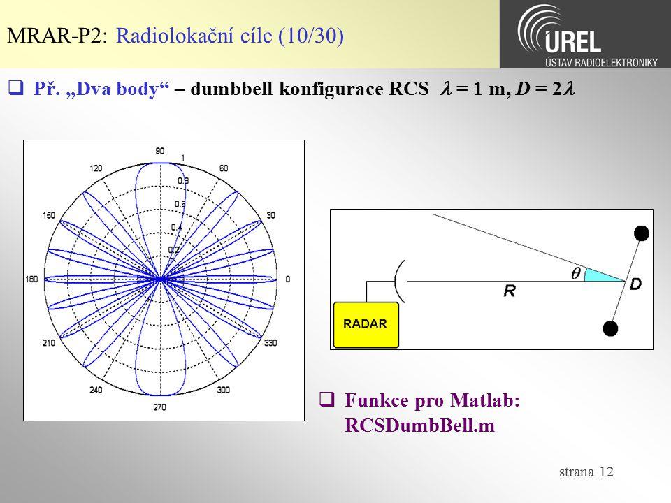 MRAR-P2: Radiolokační cíle (10/30)