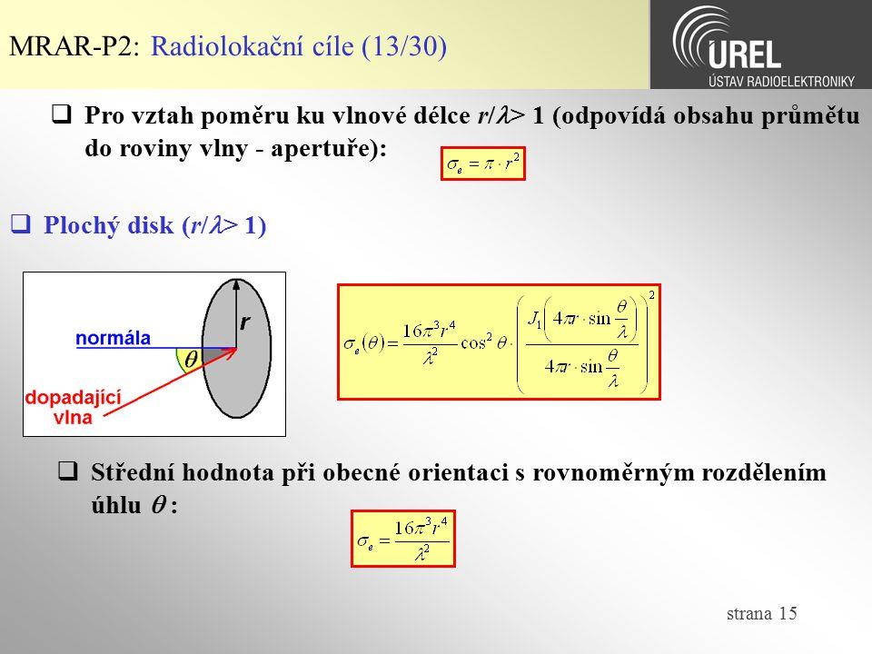 MRAR-P2: Radiolokační cíle (13/30)