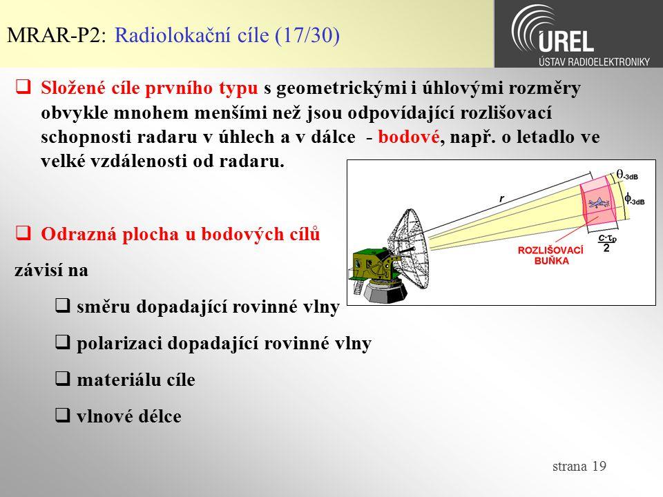 MRAR-P2: Radiolokační cíle (17/30)