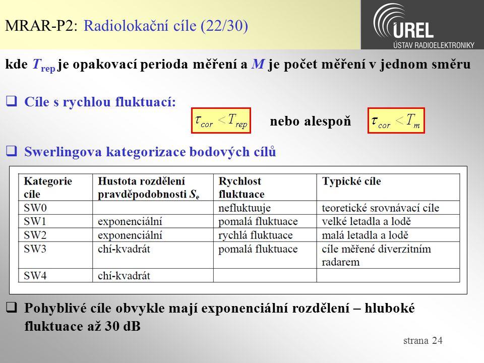 MRAR-P2: Radiolokační cíle (22/30)